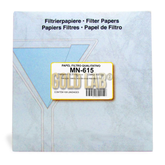 PAPEL FILTRO QUALITATIVO MN 619 125MM C/100FL