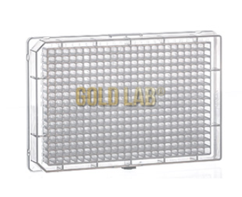 MICROPLATE, 384 WELL, PP, F-BOTTOM, NATURAL, PCT. C/ 10 PÇS