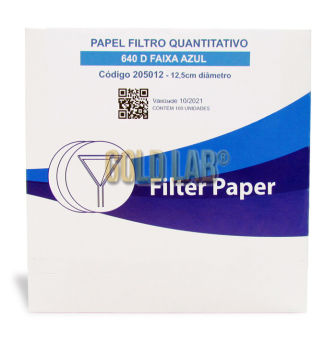 PAPEL FILTRO QUALITATIVO 640M 125MM